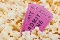 movie tickets in popcorn