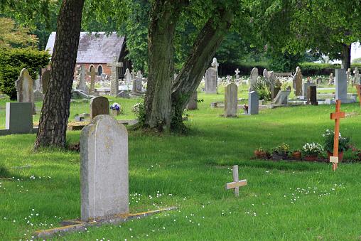 Grave in cemetery